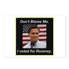 I Voted For Romney Postcards (Package of 8)