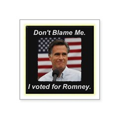 I Voted For Romney Square Sticker 3