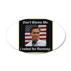 I Voted For Romney Wall Decal