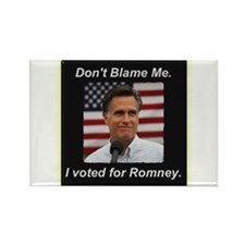 I Voted For Romney Rectangle Magnet