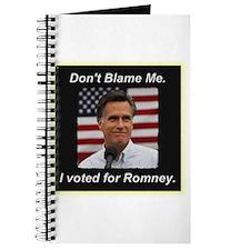I Voted For Romney Journal