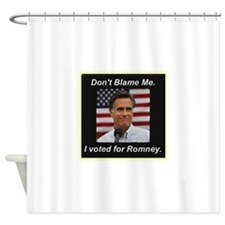 I Voted For Romney Shower Curtain