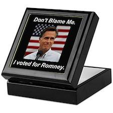 I Voted For Romney Keepsake Box