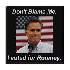 I Voted For Romney Tile Coaster