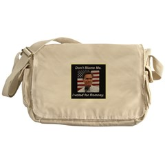 I Voted For Romney Messenger Bag