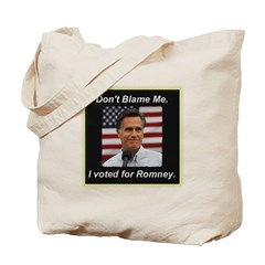 I Voted For Romney Tote Bag