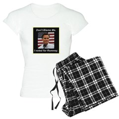 I Voted For Romney Pajamas