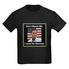 I Voted For Romney Kids Dark T-Shirt