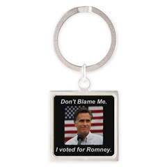 I Voted For Romney Square Keychain