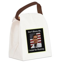 I Voted For Romney Canvas Lunch Bag