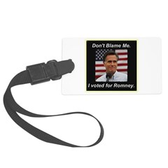 I Voted For Romney Luggage Tag