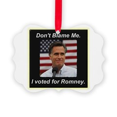 I Voted For Romney Ornament