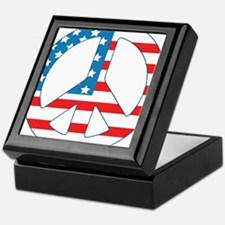 4th July Peace Keepsake Box