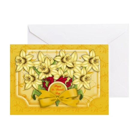 St. David's Day Greeting Card Welsh With daffodil