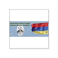 """Patria en Peligro Square Sticker 3"""" x 3"""""""