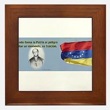 Patria en Peligro Framed Tile