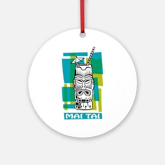Mai Tai Tiki Cocktail Ornament (Round)