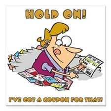 """HOLD ON! Square Car Magnet 3"""" x 3"""""""