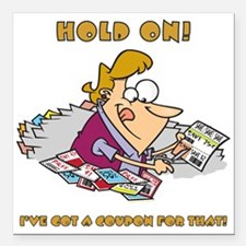 "HOLD ON! Square Car Magnet 3"" x 3"""