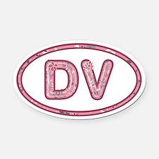 DV Pink Oval Car Magnet