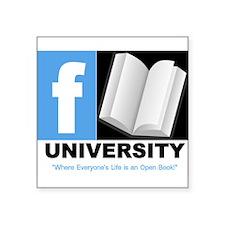"FBOOK UNIVERSITY Items Square Sticker 3"" x 3"""