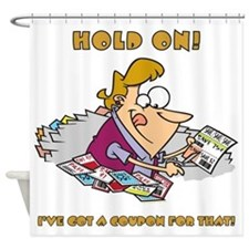 HOLD ON! Shower Curtain