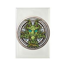 Vine Celtic Greenman Pentacle Rectangle Magnet