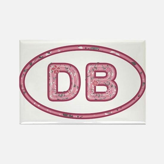 DB Pink Rectangle Magnet