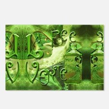 La Fee Verte Collage Postcards (Package of 8)