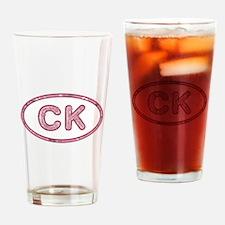 CK Pink Drinking Glass