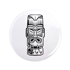 "Tiki Statue 3.5"" Button (100 pack)"
