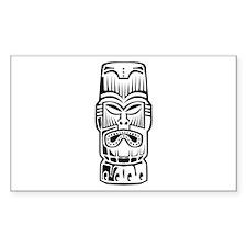 Tiki Statue Decal