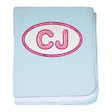 CJ Pink baby blanket