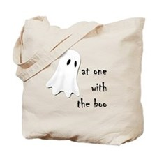 at one with the boo -- dark Tote Bag