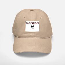 Cat Person Baseball Baseball Cap