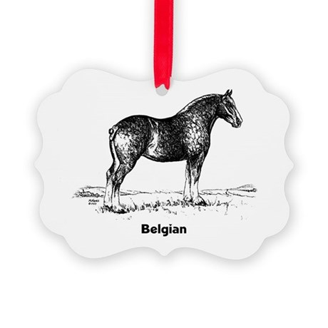Belgian Horse Picture Ornament