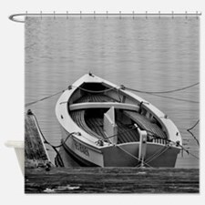 Docked Sailboats Shower Curtain