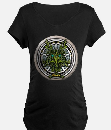 Ivy Celtic Greenman Pentacle T-Shirt