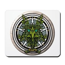 Ivy Celtic Greenman Pentacle Mousepad