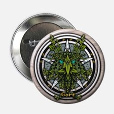 """Ivy Celtic Greenman Pentacle 2.25"""" Button (10 pack"""