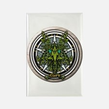 Ivy Celtic Greenman Pentacle Rectangle Magnet