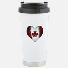 Canadian heart 2 Travel Mug