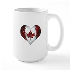 Canadian heart 2 Ceramic Mugs