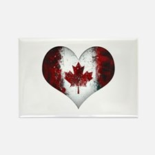 Canadian heart 2 Rectangle Magnet
