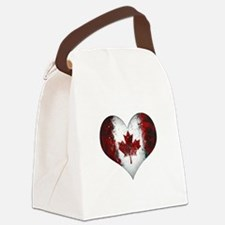 Canadian heart 2 Canvas Lunch Bag