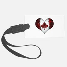 Canadian heart 2 Luggage Tag
