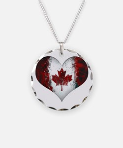Canadian heart 2 Necklace