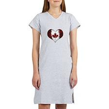 Canadian heart 2 Women's Nightshirt