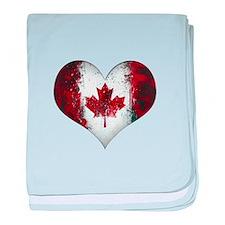 Canadian heart 2 baby blanket