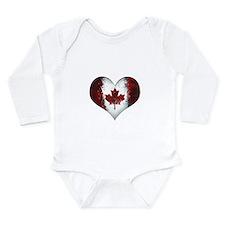 Canadian heart 2 Long Sleeve Infant Bodysuit